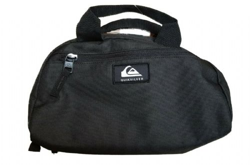 QUIKSILVER MENS TOILETRY BAG.CHAMBER BLACK WASH TRAVEL SHAVER ZIP UP HOLDALL 9W